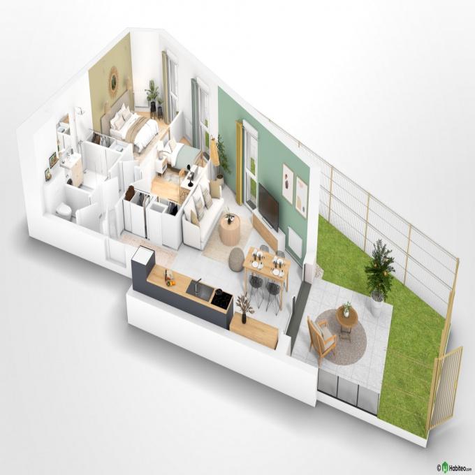 Programme neuf Rez de jardin Grenoble (38100)